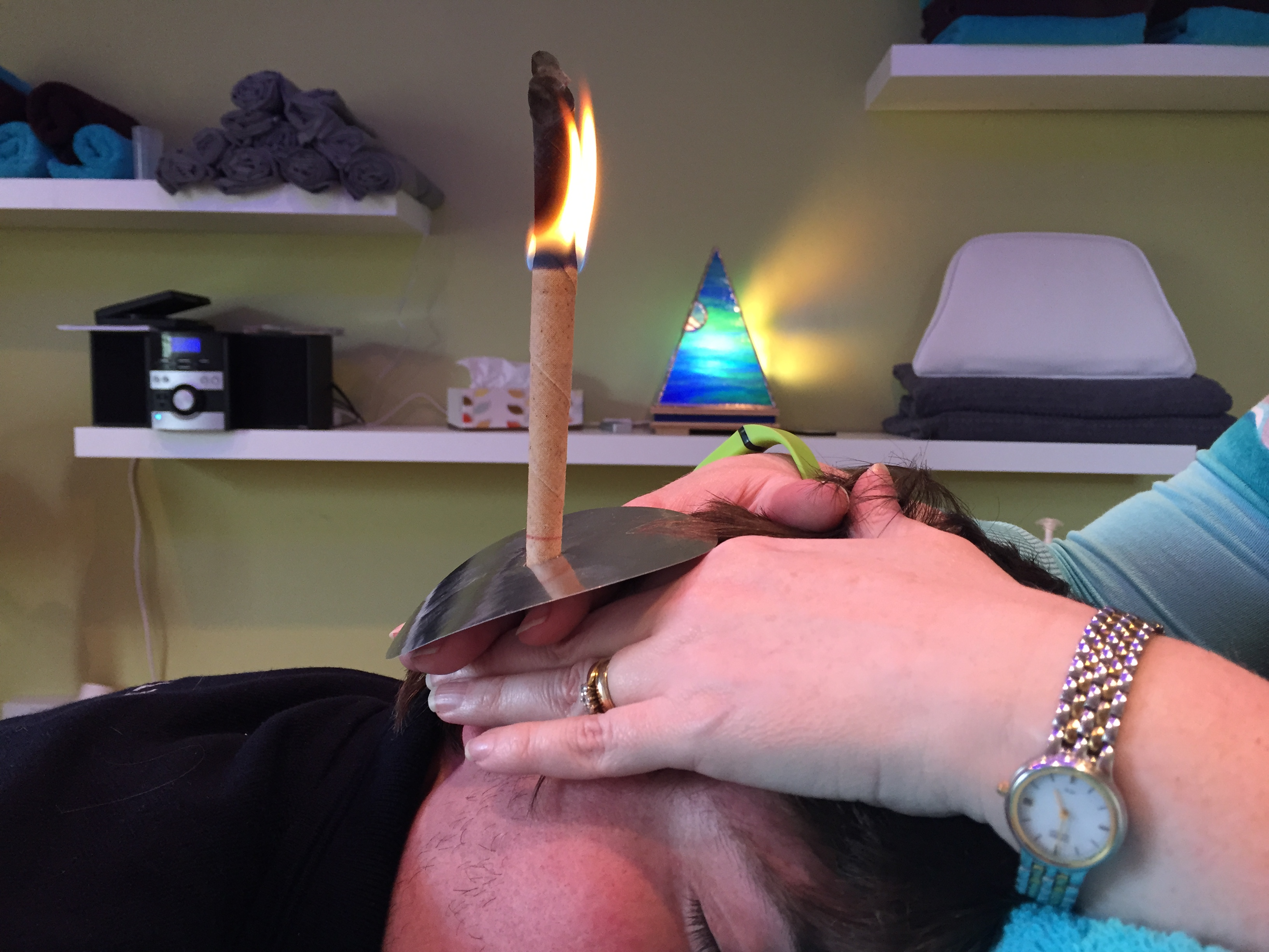 Hopi Ear Candling at Therapy Station