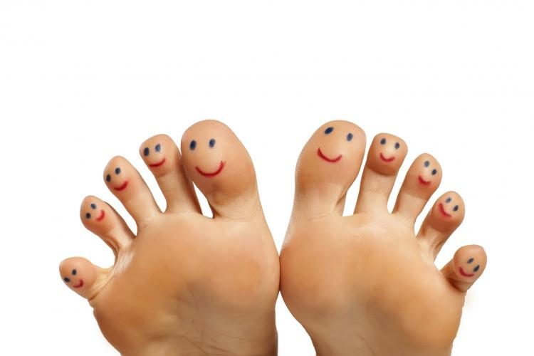 foot health at therapy station